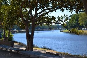 Walking along the Yarra River