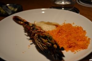 Grilled prawn and pork salt