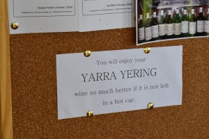Yep, warm Yarre Yerring wine does not taste good