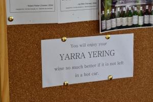 Yep, warm Yarre Yerring wine does not taste good