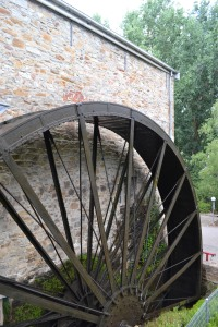 The waterwheel from the original Bridgewater Mill