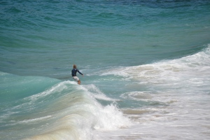Surfing at Tamarama