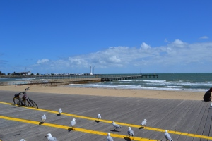 The boardwalk at St. Kilda's