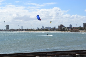 Wave boarding at St. Kilda's