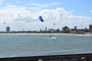 Wave boarding at St. Kilda's