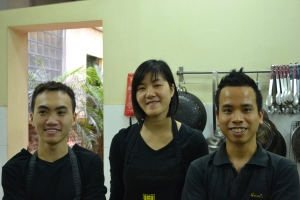 Staff at the Hanoi Cooking Centre